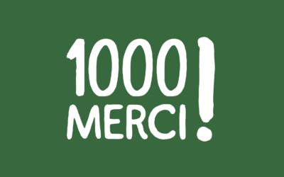 1000 Merci !